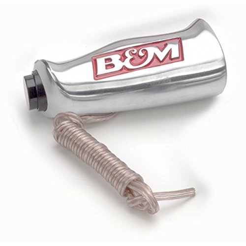 B&M 80658 Brushed Aluminum T-Handle Shifter Grip with Button and SAE Thread Inserts
