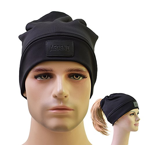 Beanie, Aegend Slouchy Beanies Daily Winter Hat Ponytail Hat for Men Women Youth, (Mens Ponytail)