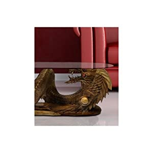 Solid Wooden Large Dragon Coffee Table