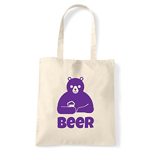 Art T-shirt Beer-bag - Shoulder Bag Cotton Natural Woman