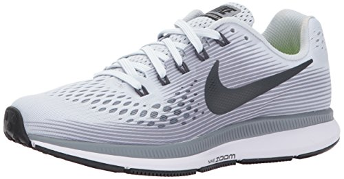 NIKE Women's Air Zoom Pegasus 34 Pure Platinum/Anthracite-Cool Grey-Black Running Shoe Size 7 Women US