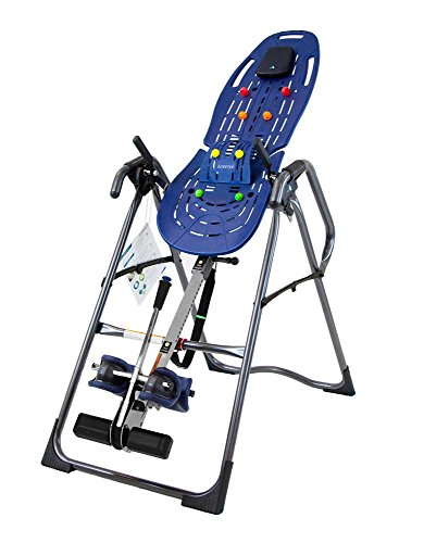 Teeter EP-970 Ltd Inversion Table with Back Pain Relief Kit, Blue/Titanium (Certified Refurbished)