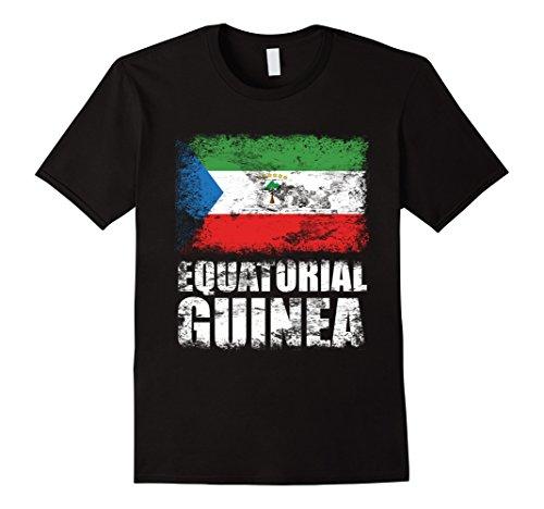 Mens Equatorial Guinea Flag T-Shirt   Equatoguinean Flag Tee Gift XL Black