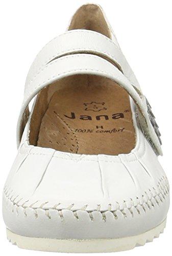 100 White White Women's Jana 24311 Mary Jane axK0Fq8