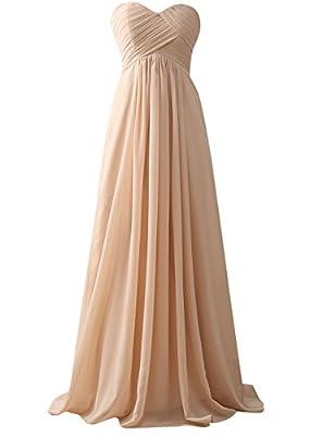 JAEDEN Bridesmaid Dress Long Chiffon Prom Dress Evening Gown Chiffon