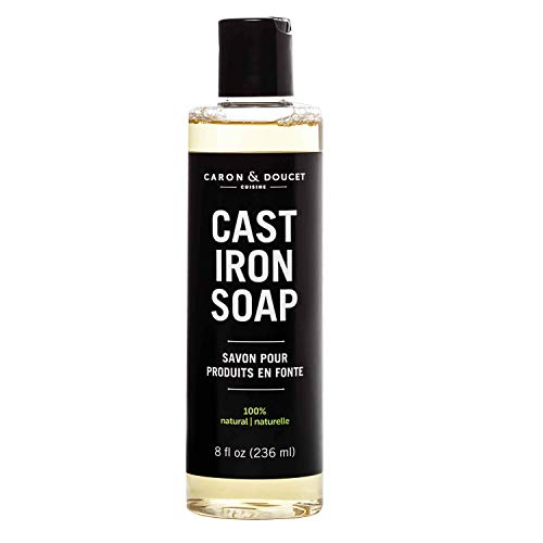 Caron & Doucet - Cast Iron Cleaning Soap | 100% Plant-Based Castile & Coconut Oil Soap | Best for Cleaning, Restoring, Removing Rust and Care Before Seasoning | For Skillets, Pans & Cast Iron Cookware