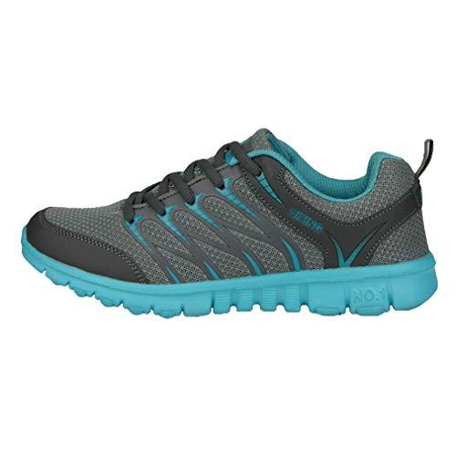 Deportes Respirable Zapatillas Ligero Gimnasio Sneakers Zapatos Mujer de Corriendo Trotar Deportes Lago Hombre Verde Moda Zapatillas Unisex Casuales ZXtBAwn0