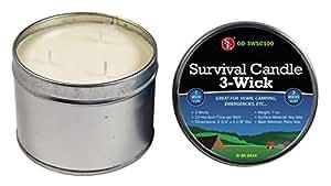 SE OD-3WSC100 3-Wick 36-Hour Emergency Candle
