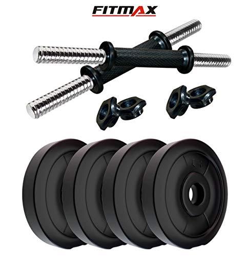FITMAX PVC DM  4KG COMBO16 Dumbbells Kit with One Pair Dumbbell Rods  Multicolor