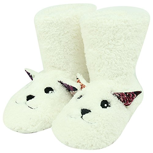 Winter Womens Forfoot Fleece House Slippers Fashion Indoor Soft Lamb White Boots Warm dqnCdTtx