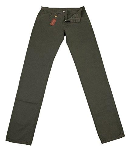 loro-piana-olive-green-solid-pants-slim-34-50