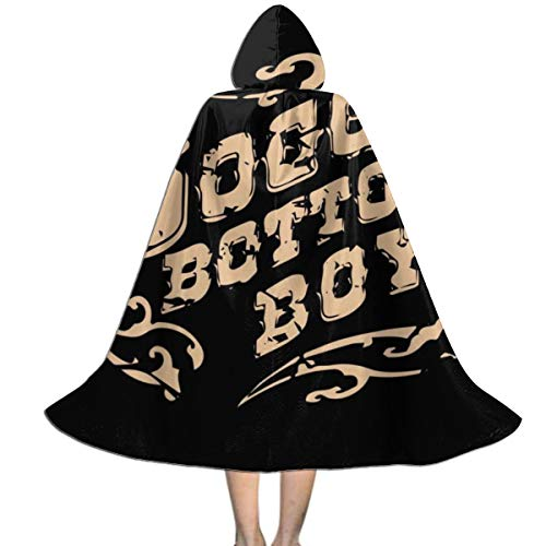 O Brother Where Art Thou Soggy Bottom Boys Unisex Kids Hooded Cloak Cape Halloween Xmas Party Decoration Role Cosplay Costumes Black
