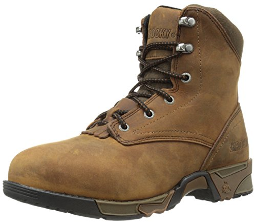 Rocky Women's Lace-up Aztec Steel Toe Work Boot, Brown, 7 W US by Rocky