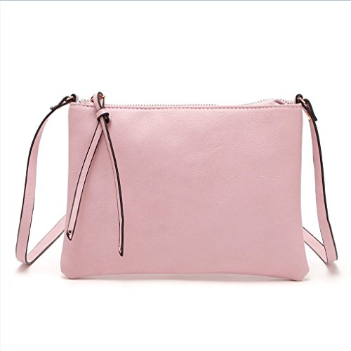 JAGENIE Pink Messenger Beige Bag Handbag Purse Ladies Crossbody Shoulder Tote Travel Women Fashion rTrw4R