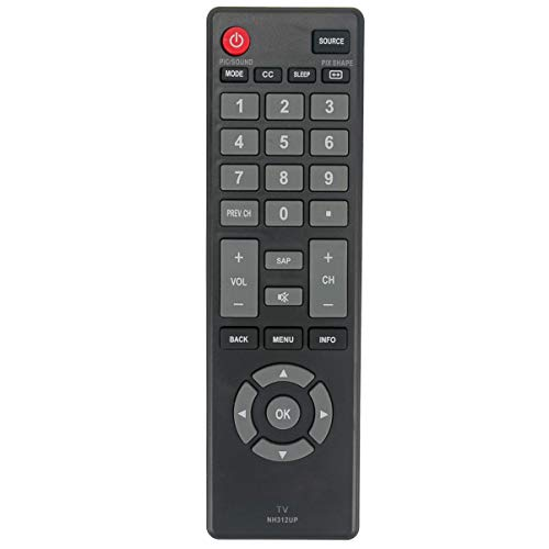 NH312UP Remote Control fit for Sanyo LCD LED HDTV TV FW55D25F FW40D36F FW43D25F FW32D06F FW50D36F FW50D48F FW43D47F FW40D48F FW40D36F-B FW32D08F FW32D06F-B (Sanyo Tv Lcd)