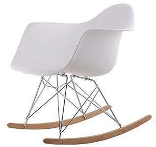 HNNHOME Eames Inspired Rar Lounge Retro Rocker Rocking Chair Leisure  Armchair U2013