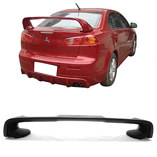 Free-motor802 Trunk Spoiler Fits 2008-2017 Mitsubishi Lancer and 2008-2015 Evolution EVO X 10 | EVO Style Unpainted ABS