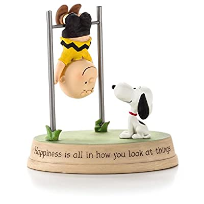 Hallmark Peanuts Figurine Happiness Is All in How You Look At Things. Paj4631