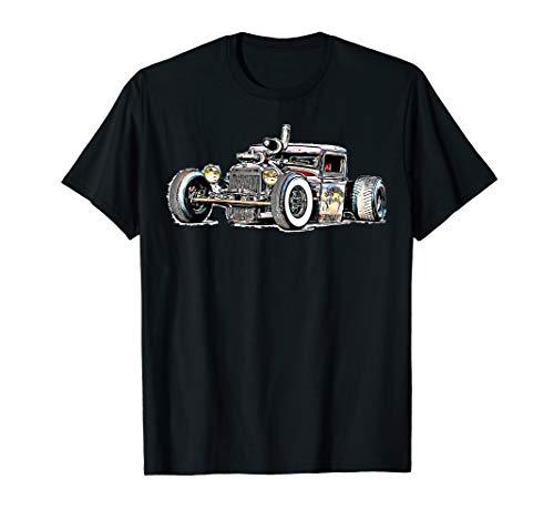 Rust Bucket Outline Rat Rod Hot Rod Diesel t-shirt