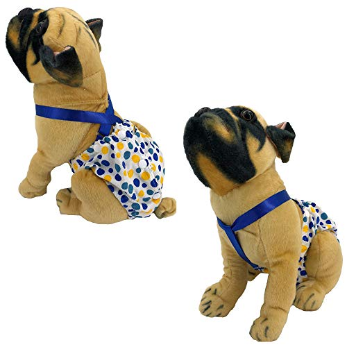 Pictures of FunnyDogClothes Female Dog Diaper With Suspenders COTTON 5