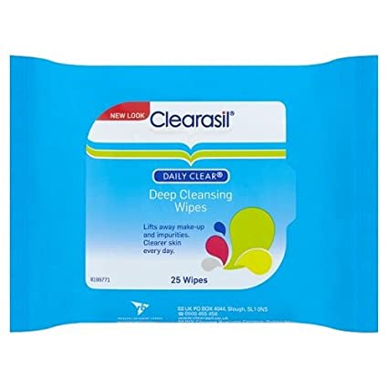 Clearasil Daily Claro Deep Cleansing Wipes, 25 toallitas