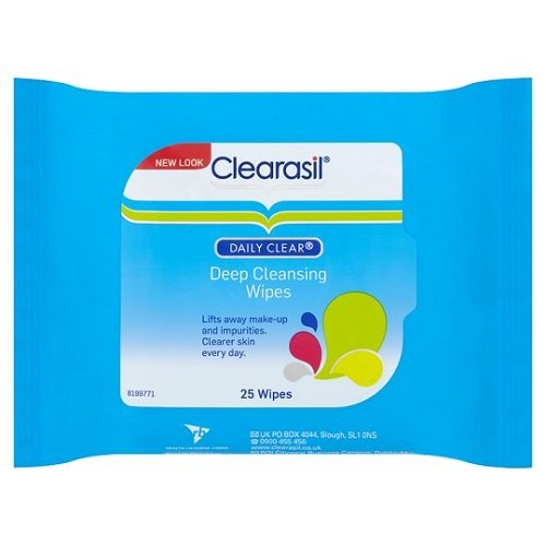 Clearasil Daily Clear Deep Cleansing Wipes, 25 Wipes Reckitt Benckiser 116178