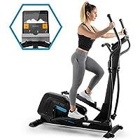 Capital Sports Helix Series Crosstrainer (Bluetooth, magnetisches Bremssystem mit 32 Leveln, App-Integration (Kinomap), Option bis 20 kg Schwungmasse, Tablet-Halterung, Pulssensor)