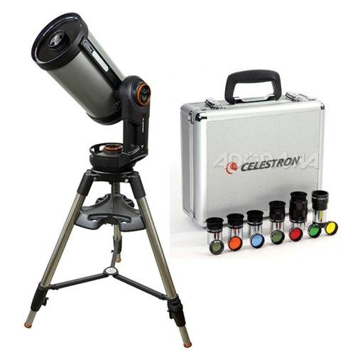 Celestron NexStar Evolution 9.25 Schmidt-Cassegrain Telescope w/Integrated WiFi - w/Deluxe Accessory Kit (5 Celestron Plossl Eyepieces, 1.25in Barlow Lens, 1.25in Filter Set, Accessory Carry Case) by Celestron