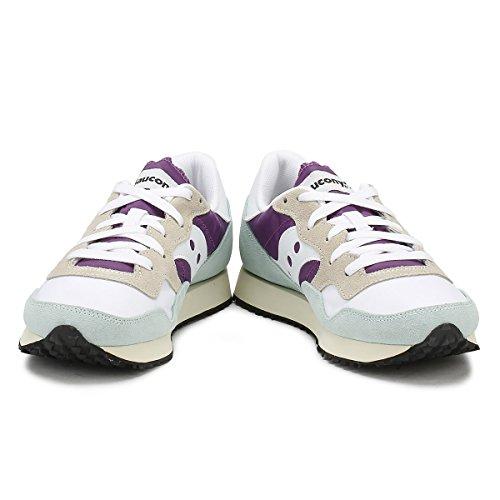 Saucony Damen DXN Trainer Vintage Gymnastikschuhe mehrfarbig (White/Purple/Light Blue 25)