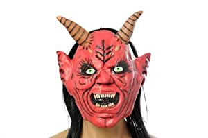 Scary Red Demon Halloween Costume Face Mask (04 UK)