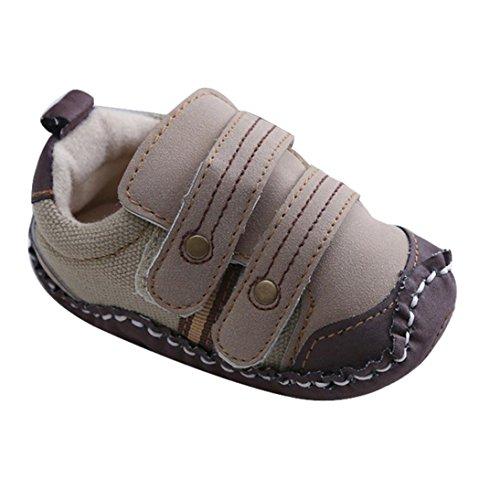 Tefamore Zapatos bebe de bajos de deporte de antideslizante de solo suave de moda invierno de calentar marrón