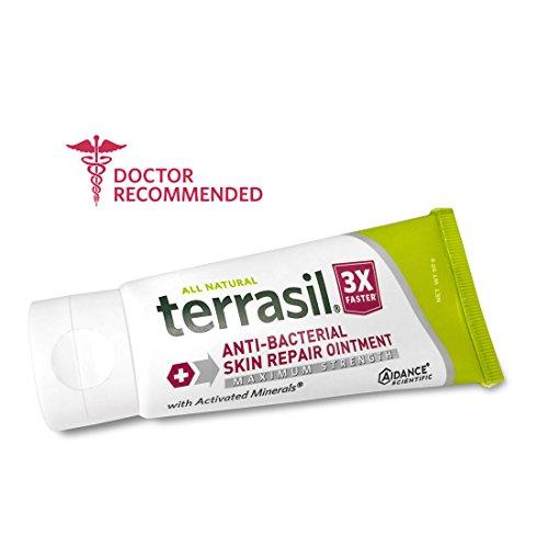 Antibacterial Skin Repair MAX 3X Faster Dr. Recommended 100% Guaranteed All Natural Fissures Folliculitis Angular Cheilitis Impetigo Chilblains Lichen Sclerosus Boils Cellulitis by Terrasil® ()