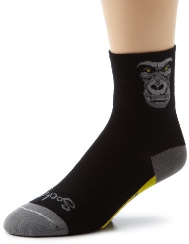 SockGuy Men's Silverback Socks, Black, L/XL (Best Mountain Bike For Big Guys)