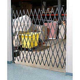 Single Folding Security Gate, 14''W to 5-1/2'W x 8'H