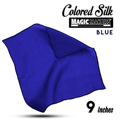 Magic Makers Professional Grade 9 Inch Magician's Silk - Blue: Toys & Games