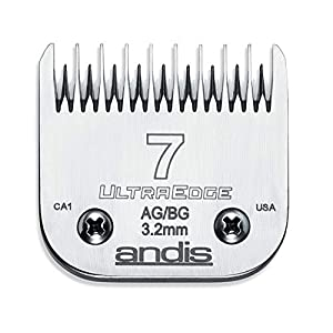 Andis Carbon Infused Steel UltraEdge Dog Clipper Blade, Size-7 Skip Tooth, 1/8-Inch Cut Length (64080) 86