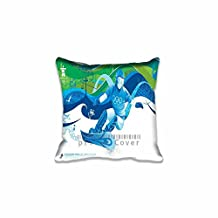 Snowboard: Parallel Giant Slalom Personalized 16x24 Inch Retangle Oblong Cotton Blend Throw Pillow Case Decor Cushion Cover