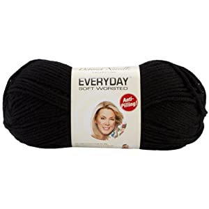 Premier Yarn Deborah Norville Collection 3-Pack Everyday Solid Yarn, Black