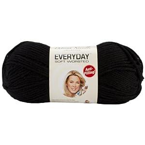 Premier Yarn Deborah Norville Collection 3-Pack Everyday Solid Yarn, Black