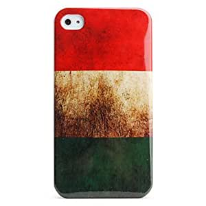TOPAA ships in 48 hours Protective Retro Style Polycarbonate Case for iPhone 4 and 4S (HungarianFlag)
