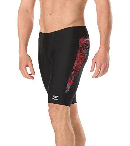 0b9375076db3 Speedo Men's Cyclone Strong Jammer Endurance+ Swimsuit, 22, Red