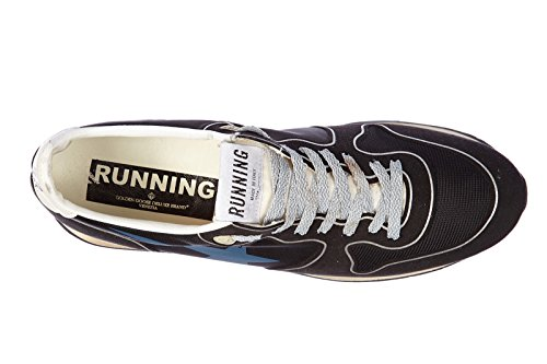 Golden Goose chaussures baskets sneakers homme en cuir running blu