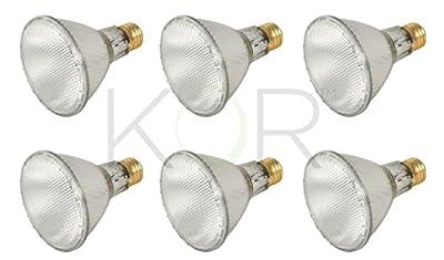 60PAR30L/FL 120V - 60 Watt High Output (75W Replacement) PAR30 Long Neck Flood - 120 Volt Eco Halogen Light Bulbs - Dimmable - Indoor/Outdoor Use