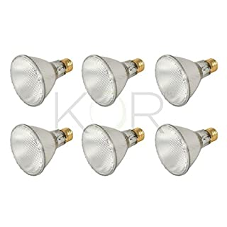 (Pack of 6) 39PAR30L/FL 120V - 39 Watt High Output (50W Replacement) PAR30 Long Neck Flood - 120 Volt Eco Halogen Light Bulbs - Dimmable - Indoor/Outdoor Use