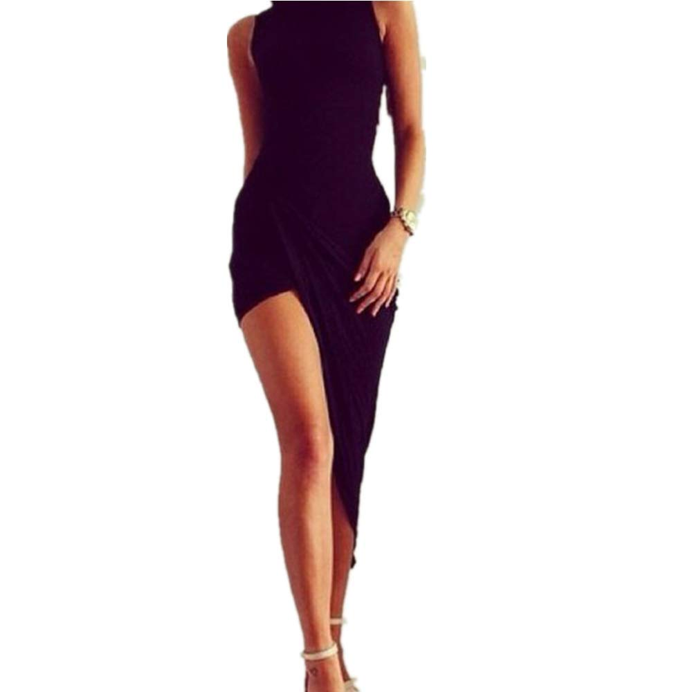 Vestidos Mujer Casual Vestido de Verano Largo Maxi Falda Mujer Elegante Boda Playa Fiesta Noche Mujer Boho Vestido de Noche Maxi Playa Sundress-D6 Damark TM