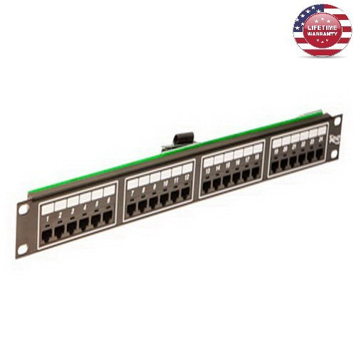 1 Pack X ICC Telco Male VOIP Patch Panel - RJ45 - 8P2C - 1 RU - 24 Port - By Nexiron