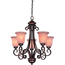Dolan Designs 2090-133 Medici 5 Light Chandelier, English Bronze