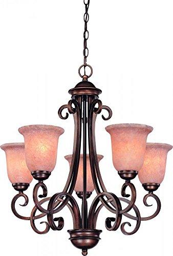 Dolan Designs 2090-133 Medici 5 Light Chandelier, English Bronze ()