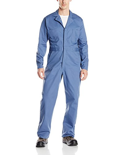 Red Kap Men's Button Front Cotton Coverall, Postman Blue, 48]()