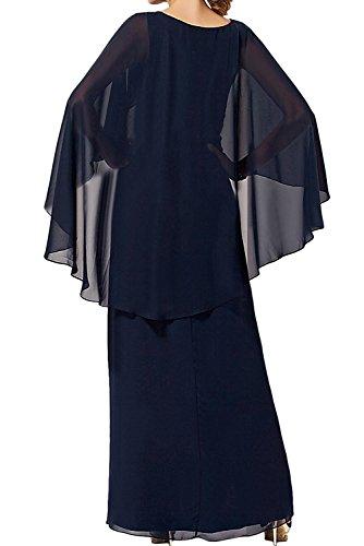 Schwarz La Braut Damen Abendkleider Chiffon Marie Lila Brautmutterkleider Lang Partykleider Festlichkleider FAwqTfA
